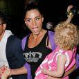 Katie Price (Jordan) et sa famille arrivent à l'aéroport de L.A