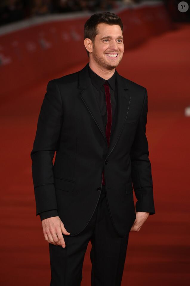 """Michael Bublé sur le tapis rouge du film """"Tour Stop 148"""" lors du 11ème Festival du Film de Rome. Le 14 octobre 2016"""