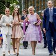 La princesse Louise de Belgique, la princesse Luisa de Belgique, le prince Lorenz d'Autriche-Este, la princesse Astrid de Belgique - La reine Paola de Belgique fête son 80e anniversaire avec 74 jours d'avance, à la chapelle musicale reine Elisabeth à Waterloo, entourée de ses enfants et petits enfants et autres membres de la famille royale. Belgique, Bruxelles, 29 juin 2017.29/06/2017 - Bruxelles
