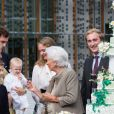 La reine Paola de Belgique fête son 80e anniversaire avec 74 jours d'avance, à la chapelle musicale reine Elisabeth à Waterloo, entourée de ses enfants et petits enfants et autres membres de la famille royale. Belgique, Bruxelles, 29 juin 2017. © Alain Rolland / Imagebuzz / Bestimage  Queen Paola of Belgium, wife of King Albert of Belgium, celebrates her 80th birthday with with the entire Belgian Royal family at the Queen Elisabeth Music Chapel in Waterloo, Belgium. Belgium, Waterloo, 29 June 2017. PIC : Queen Paola of Belgium and family members29/06/2017 - Waterloo