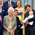 Le roi Albert II de Belgique, la reine Paola de Belgique, le prince Amedeo de Belgique, la princesse Anna Astrid - La reine Paola de Belgique fête son 80ème anniversaire avec 74 jours d'avance, à la chapelle musicale reine Elisabeth à Waterloo, entourée de ses enfants, ses petits enfants et d'autres membres de la famille royale. Belgique, Bruxelles, 29 juin 2017.29/06/2017 - Bruxelles