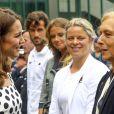 Martina Navratilova - Kate Middleton, duchesse de Cambridge, lors de l'ouverture du tournoi de tennis de Wimbledon à Londres, le 3 juillet 2017.