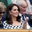 Kate Middleton, duchesse de Cambridge, lors de l'ouverture du tournoi de tennis de Wimbledon à Londres, le 3 juillet 2017.