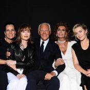 Fashion Week : Kate Winslet et Isabelle Huppert, ravissantes pour Armani