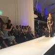 Iris Mittenaere a défilé pour Jean Paul Gaultier, le 5 juillet 2017 à Paris.