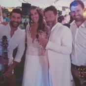 Christophe Maé et Nadège ont célébré leur mariage en Corse, au bord de l'eau