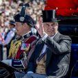 Le prince Andrew, duc d'York, lors de la parade Trooping the Colour le 17 juin 2017 à Londres.