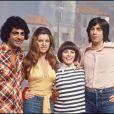 Sheila et Ringo avec Enrico Macias et Mireille Mathieu en 1975