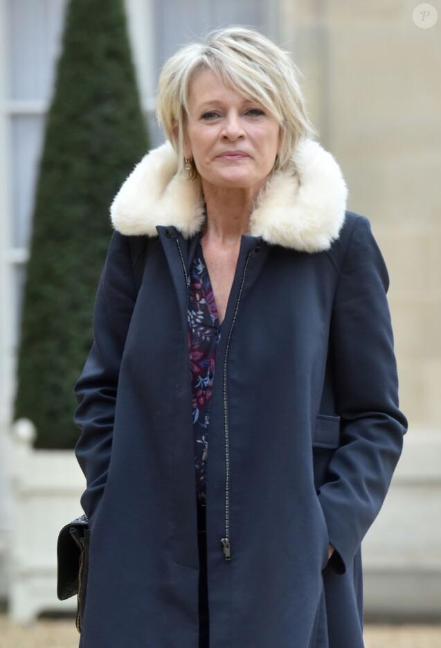 L'animatrice Sophie Davant lors des 30 ans du Téléthon pendant une réception au palais de l'Elysée à Paris, le 30 janvier 2017.