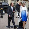 Stefan Löfven, Urban Ahlin, Jenni Ahlin assistent à une messe à l'occasion du 40ème anniversaire de la princesse Victoria de Suède au palais Royal de Stockholm en Suède, le 14 juillet 2017