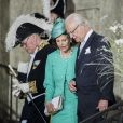 Le roi Carl XVI Gustaf et la reine Silvia de Suède assistent à une messe à l'occasion du 40ème anniversaire de la Princesse Victoria de Suède au palais Royal de Stockholm en Suède, le 14 juillet 2017