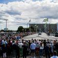 Cortège à l'occasion du 40ème anniversaire de la princesse Victoria de Suède à Stotckholm, le 14 juillet 2017.