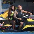 Melanie Brown (Mel B) et son mari Stephen Belafonte en vacances sur un yacht avec des amis à Ibiza le 3 Juillet 2016.
