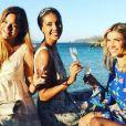 Les Miss France lors du mariage de Sylvie Tellier, à Porquerolles le 14 juillet 2017.