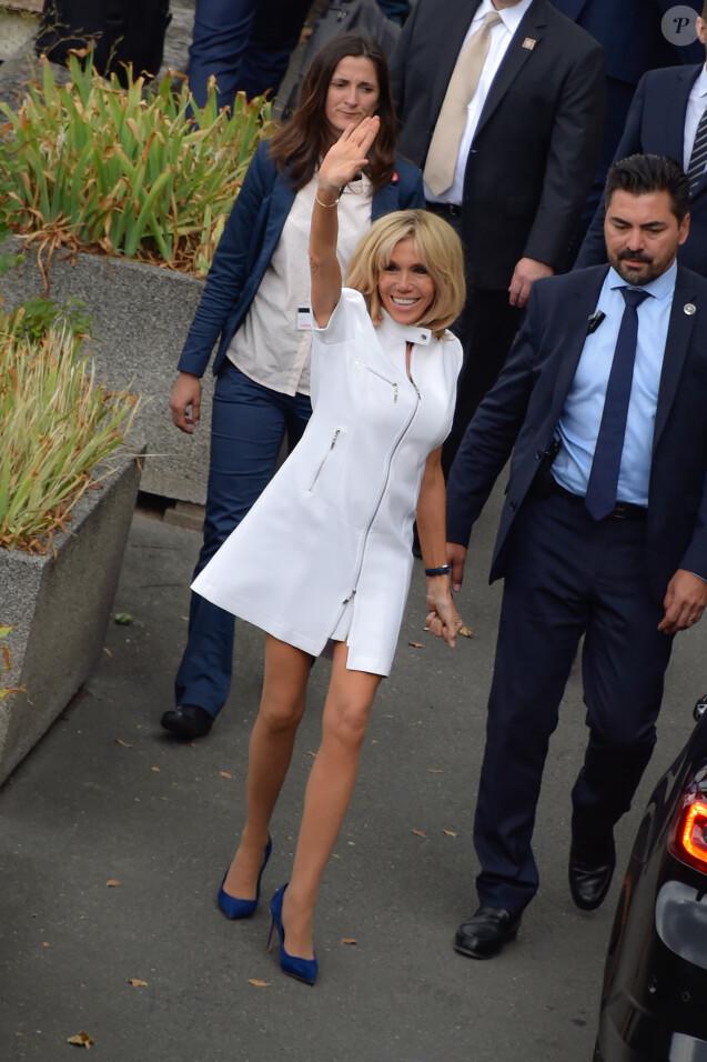 Brigitte Macron à Paris, le 13 juillet 2017.