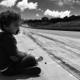 Matis, le fils de Chloé Mortaud, sur les traces de son papa... le 23 mai 2016.