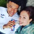 Dounia Coesens et son chéri Arnaud Assoumani - Photo publiée sur Instagram le 21 juillet 2017