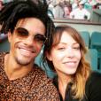 Arnaud Assoumani et sa chérie Dounia Coesens à Roland Garros - Photo publiée sur Instagram au mois de mai 2017