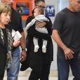Exclusif - Janet Jackson et son fils Eissa arrivent à l'aéroport de New York le 10 juillet 2017.