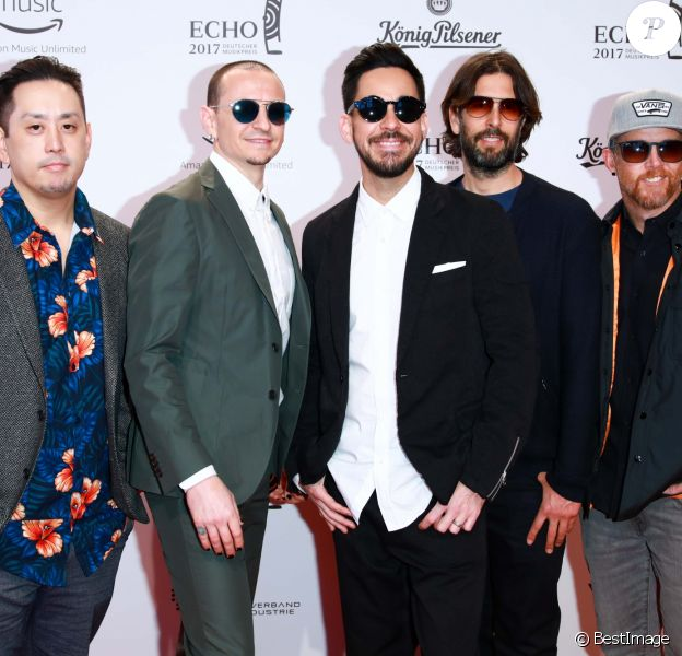 "Linkin Park aux ""2017 Echo Awards"" à Messe Berlin, le 6 avril 2017."