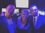 """Leonardo DiCaprio et Kate Winslet posent avec leur """"ennemi juré"""" de Titanic !"""