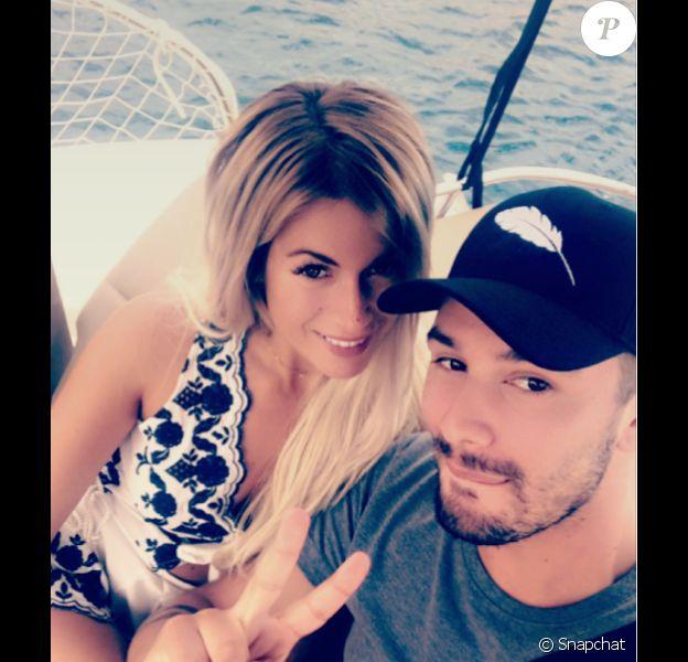Carla Moreau et Kevin Guedj (Moundir 2), de nouveau amoureux, mai 2017.