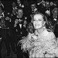 Jeanne Moreau présentant Lumière au Festival de Cannes 1976.