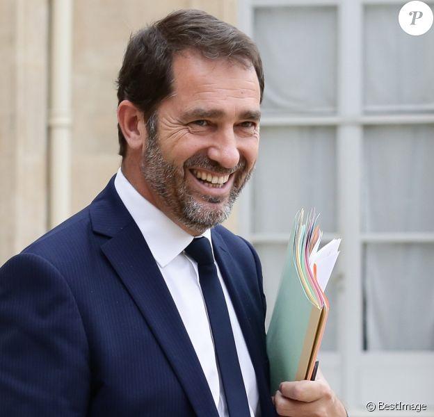 Christophe Castaner sortant du conseil des ministres au palais de l'Elysée à Paris, le 2 août 2017.