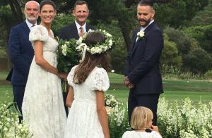 Bianca Balti s\u0027est mariée avec Matthew McRae  Sublime en robe blanche !