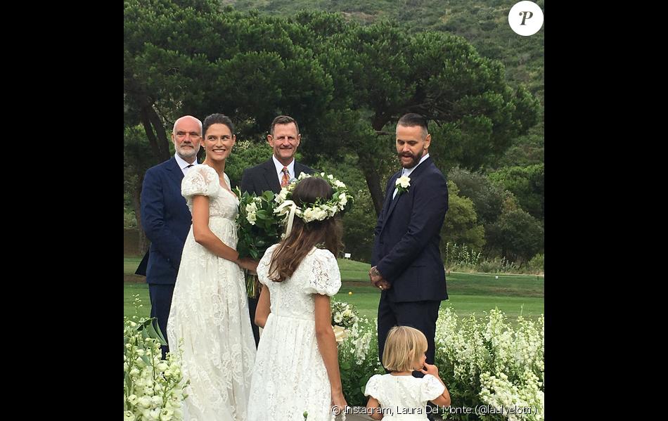 Mariage de Bianca Balti et Matthew McRae au Ranch at Laguna Beach. Le 1er août 2017.