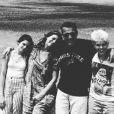 Benjamin Castaldi et Aurore en vacances dans l'Ouest Américain avec leurs enfants respectifs Enzo et Louise.