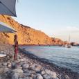 Joyce Jonathan lors de ses vacances à Ibiza, août 2017.