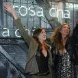 Gisele Bundchen, Camila Queiroz - Soirée d'inauguration du nouveau magasin Rosa Cha à Oscar Freire Street à São Paulo. Le 16 août 2017.