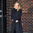 Naomi Watts, frigorifiée à New-York, en attendant d'entrer sur le plateau de Letterman