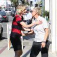 Exclusif - Ellen DeGeneres et sa femme Portia de Rossi à West Hollywood le 20 juin 2017.