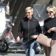 Ellen DeGeneres et sa femme Portia De Rossi à la sortie d'un salon de coiffure à West Hollywood, le 24 février 2017