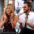 Jennifer Aniston et son mari Justin Theroux - Jason Bateman reçoit son étoile sur le Walk of Fame à Hollywood, le 26 juillet 2017