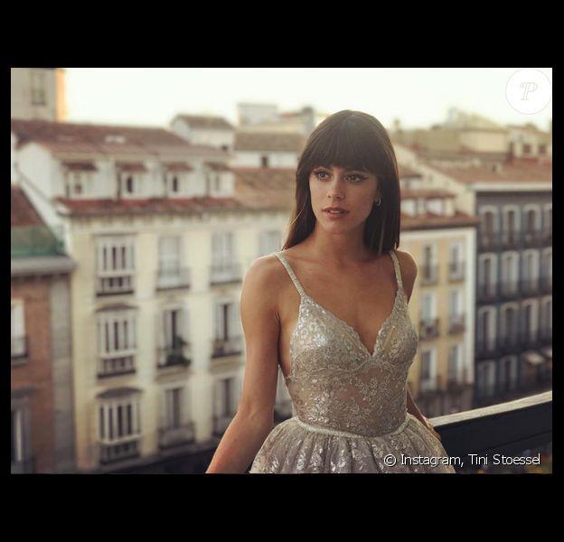 Photo de Tini Stoessel à Madrid. Le 22 août 2017.