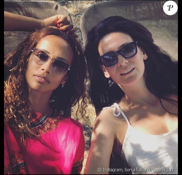 Sonia Rolland et Marie Drucker, en vacances. Août 2017