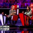 "M. Pokora, Jenifer et Patrick Fiori - ""The Voice Kids"" saison 4. Sur TF1 le 2 septembre 2017."