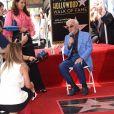 Le chanteur Charles Aznavour reçoit son étoile sur le Hollywood Walk of Fame à Los Angeles, le 24 août 2017. © Chris Delmas/Bestimage