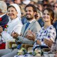 Le prince Carl Philip et la princesse Sofia de Suède lors des célébrations du 40e anniversaire de la princesse héritière Victoria de Suède sur l'île d'Öland le 14 juillet 2017.