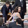 George et Amal Clooney à la première du film Suburbicon lors du 74ème Mostra de Venise le 2 septembre 2017.