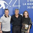 "Matt Damon, George Clooney et Julianne Moore - Photocall du film ""Suburbicon"" lors du 74ème Festival International du Film de Venise (Mostra) le 2 septembre 2017."