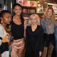 """Exclusif - Fatou(blog Black Beauty Bag), Flora Coquerel, Marion Renard, Doutzen Kroes ( ambassadrice L'Oréal Paris), Horia ( YouTubeuse), Salima ( YouTubeuse et make-up artist) et Emilie ( blog The Brunette ) - Doutzen Kroes (porte-parole de L'Oréal Paris et égérie de la campagne de """"Color Riche L'Oréal Paris x Balmain"""") et Olivier Rousteing (Directeur de la Création de Balmain) lors de l'avant-première mondiale du lancement de la Collection de rouge à lèvres """"Color Riche L'Oréal Paris x Balmain"""", à la boutique L'Oréal à Paris, rue de Rennes le 1er septembre 2017. © Veeren / Bestimage"""