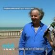 """Gonzague Saint Bris dans l'émission Midi en France dédiée à Cabourg (évoquant ici le """"méridien de l'amour"""" sur la promenade Marcel Proust), enregistrée le 5 juillet 2017, un mois avant sa mort dans un accident de voiture, et diffusée sur France 3 le 8 septembre 2017."""