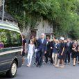 Image des obsèques de Gonzague Saint Bris en la collégiale Saint-Denis d'Amboise (Indre-et-Loire) le 14 août 2017.