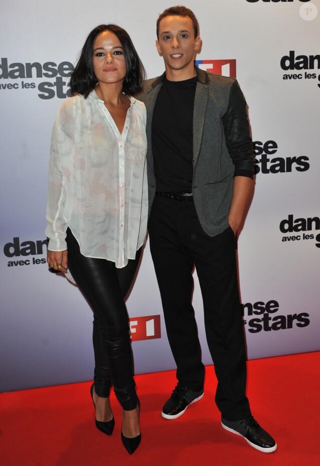 """Alizee et Gregoire Lyonnet - Casting de la saison 4 de """"Danse avec les stars"""" a Paris le 10 septembre 2013."""