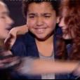 Lilou, Marilou et Valentin dans The Voice Kids 4 le 16 septembre 2017 sur TF1.