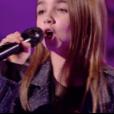 """Eléa, Lara et Angelina dans """"The Voice Kids 4"""" sur TF1, le 16 septembre 2017."""